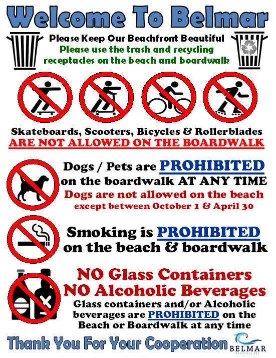 Rules Sign Beach